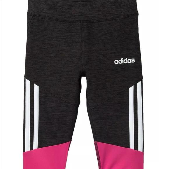 4T adidas Girls Active Capri Tight Legging Teal